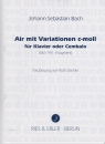Air mit Variationen c-moll